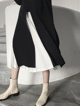 Fashion High Collar Pure Colour Two Piece Sweater Dresses