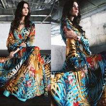 Bohemian Tropical Chiffon Maxi Dress-2color