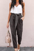 Belt Plain Casual Pants