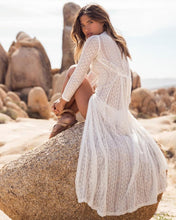 Bohemian Beach Holiday  Lace Long Dress Cover Ups