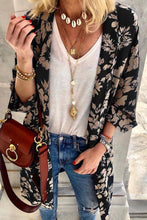 Fashion Printed 3/4 Sleeve Loose Cardigans