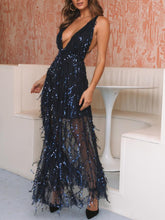 2019 Summer New Sexy Evening Dress Sequined Halter Dress