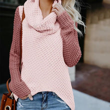 High Collar Coloured Long-Sleeved Sweater