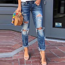 European And American Urban Trend Hole Casual Jeans