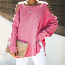 Casual Spaghetti Strap Pure Color Sweaters