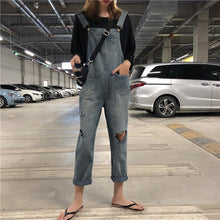 Casual Slim Slim Pocket Denim Denim Jumpsuits Overalls