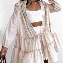 Women's Deep V-Neck Short Sleeve Pure Color Cardigan