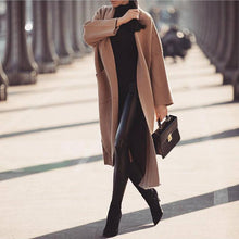 Casual Solid Color Stitching Pocket Knit Cardigan Coat