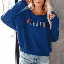 Fashionable Loose Long Sleeve Letter Print Sweatershirt