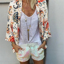 Spring And Autumn Flower Print Casual Cardigan