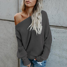 Casual Pure Color One Shoulder Sweaters