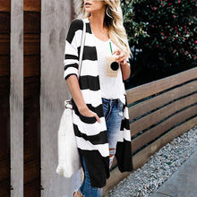 Fashion Colouring Long Sleeve Slit Cardigan