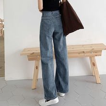 Casual Pure Colour Wide Wide Leg Jeans