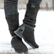 Casual Mixed Color Low-Heel Buskins Boots