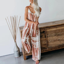 Casual Sleeveless Contrast Color Sling Jumpsuit