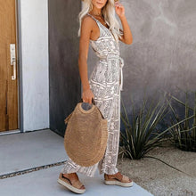 Casual Sleeveless Belted Sling Jumpsuit