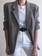 Brief Turndown Collar Long Sleeve Stripe Loose Blazer