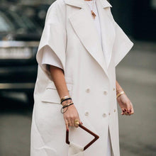 Fashion Lady Pure White Coat Coat