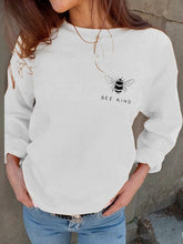 Round Neck Bee Printed Casual Sweatershirts