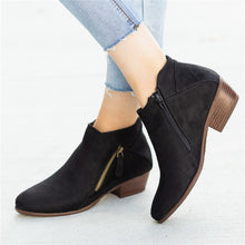 Casual Side Zipper Pure Color Round Toes Ankle Boots