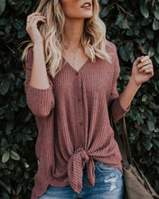 Casual Long Sleeve V-Neck Solid Color Sweaters
