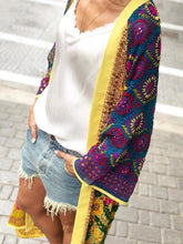 Women's Fashion Printed Color Long Sleeve Cardigan