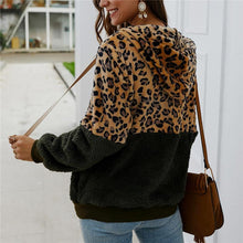 Casual Hooded Leopard Stitching Jacket
