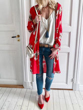 Fashion Printed Long Cardigan Coat