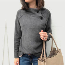 Maternity Long Sleeve Pure Color Single-Breasted Top