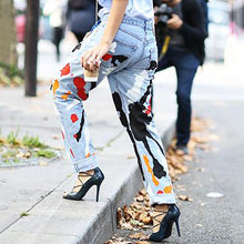 Casual Printed Colour Jeans