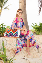 Chiffon printed holiday beach dress cover-ups
