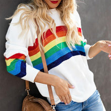 Rainbow Pattern Versatile Slim Sweater