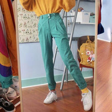 Fashion Stitching Pleated Single Row Double Buckle Solid Color Trousers
