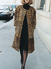 Fashion Leopard Ladies Coat Jacket