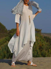 Dovechic Solid Color Split-side Stand Collar Maxi Dress