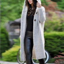 Women's casual solid color knit cardigan