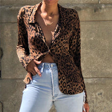 Fashion Leopard-print Long Sleeve Shirt