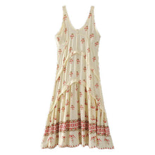 Bohemian Resort Wind Print Tank Dress Loose Dress