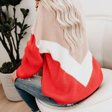 Fashion Autumn And Winter Striped Shirt Contrast Color Sweater