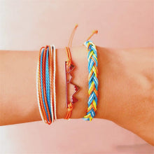 Bohemian color wire rope braided bracelet