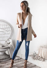 Solid Color Casual Long Sleeve Outwear Coat