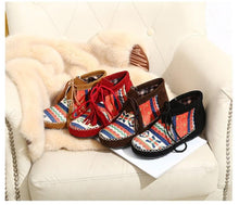 Colorblock Tassel Fringed Bare Boots-4color