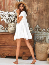 Ruffled Boho Mini Dress -3color