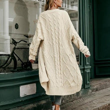 Fashion holiday wind openwork sweater loose long coat
