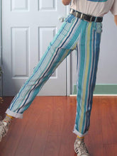 Fashion Multicolor Striped Ladies Trousers