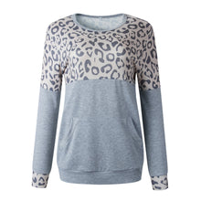 Sexy Leopard Crew Neck Long Sleeve Sweatshirt