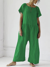 Round Veck SHORT SLEEVE JUMPSUITS