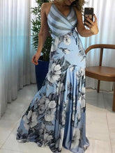 Dovechic Printed V-neck Maxi Dresses