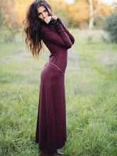 Dovechic Hooded Long Sleeves Solid Maxi Dress