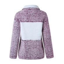 Cute Pure Colour Turndown Collar Metal Zipper Sweatshirt